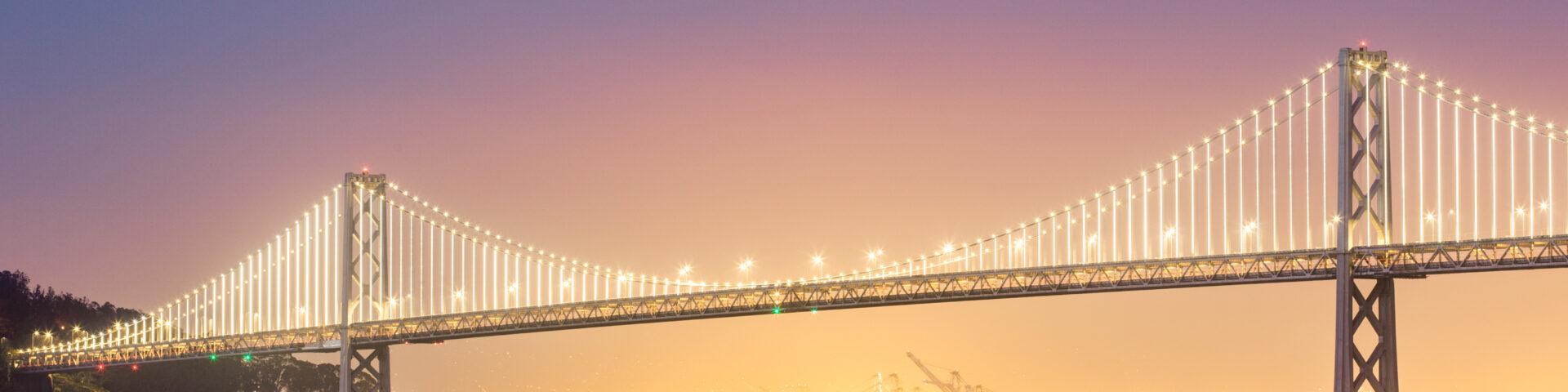 foto van bay bridge als illustratie bij overbruggingspensioen